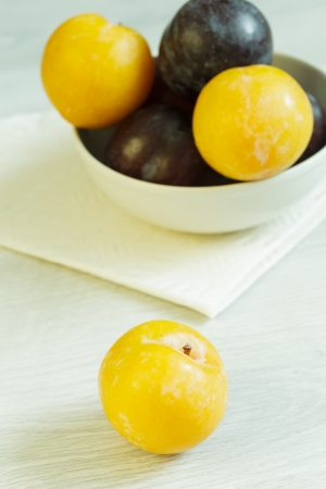 Mirabelle and other plums on the table