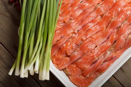 Preparation of Swedish fish baked pudding - luxpudding Imagens