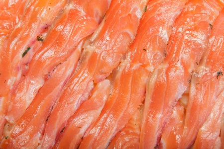 Gravadlux - swedish thin slices of salmon or trout