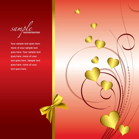 Valentine Background with Hearts. Stock Vector - 12103847