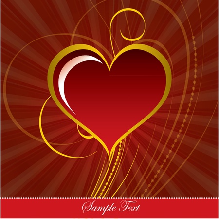 Valentine Background with Heart. Stock Vector - 12103878