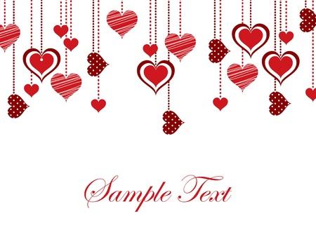 Valentine tła z serca.