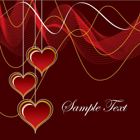 Valentine Background with Hearts. Stock Vector - 12103834
