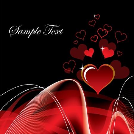 friendship day: Valentine Background with Hearts.