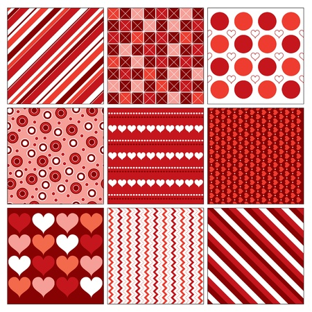 Valentine Backgrounds with Hearts. Vector