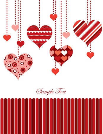 valentines card: Valentine Background with Hearts.