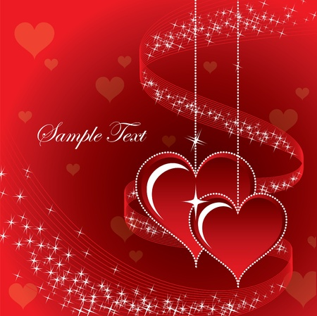 Valentine Background with Hearts. Stock Vector - 12103845