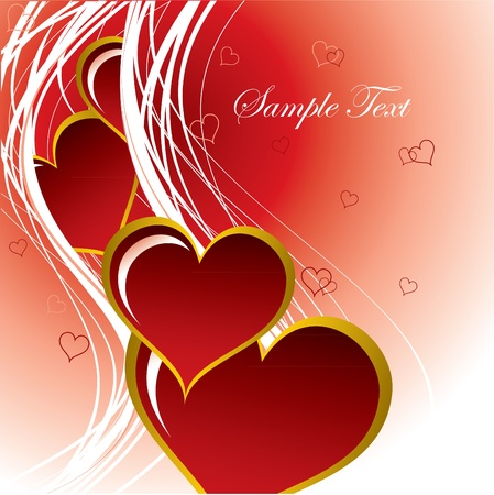 Valentine Background with Hearts. Vector