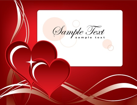 Valentine Background with Hearts. Stock Vector - 12103835