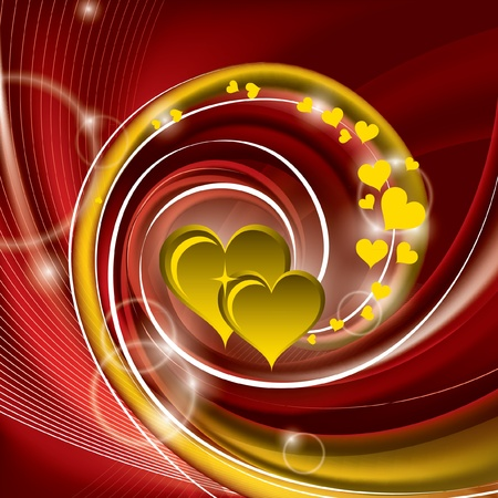 心とバレンタインの背景。