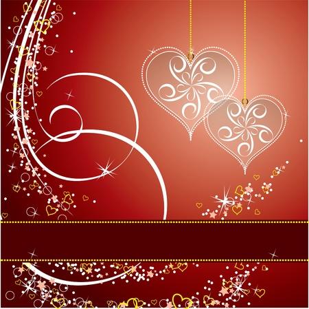 Valentine Background with Hearts. 免版税图像 - 12103859
