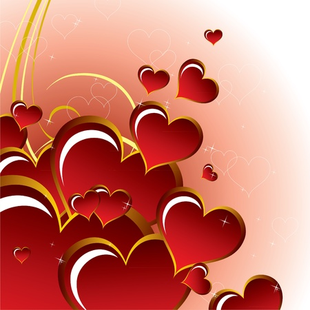 Valentine Background with Hearts. Stock Vector - 12103836