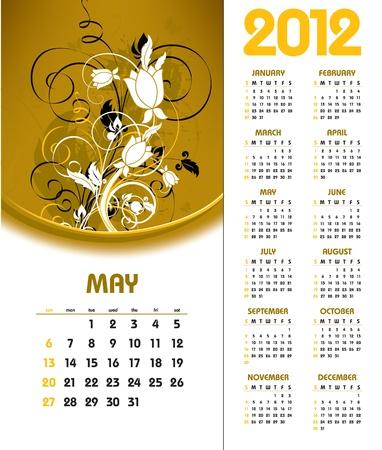 2012 Calendar. May.