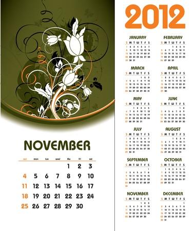 florish: 2012 Calendar. November.