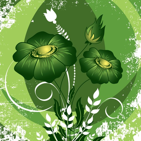 decoration: Abstract Floral Background. Illustration