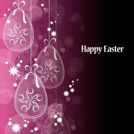 black bow: Easter Background. Easter Eggs.