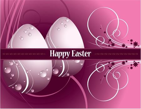 Easter Background. Easter Eggs.
