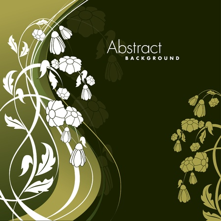 Abstract Floral Background. Eps10. Vector