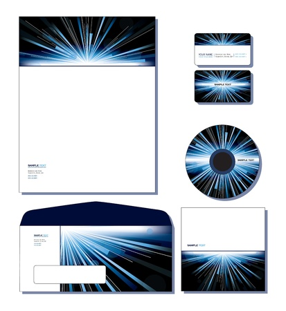 Corporate Identity Template - letterhead, business and gift cards, cd, cd cover, envelope. Stock Vector - 12431042