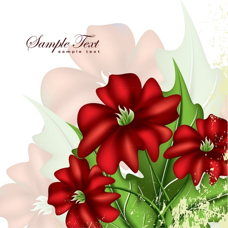petal: Abstract Floral Background.  Illustration