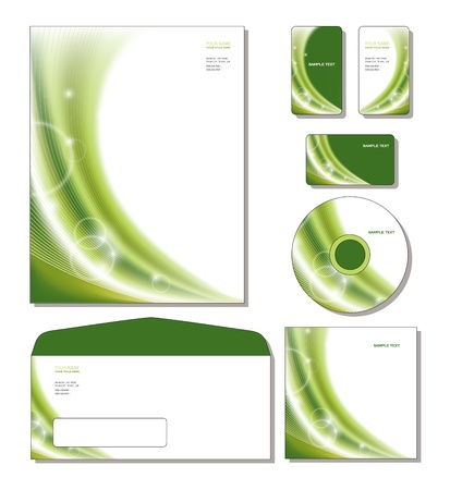 Corporate Identity Template letterhead, business and gift cards, cd, cd cover, envelope