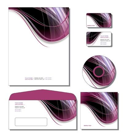 Corporate Identity Template  letterhead, business and gift cards, cd, cd cover, envelope  Illustration