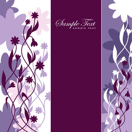postcard background: Abstract Floral Background