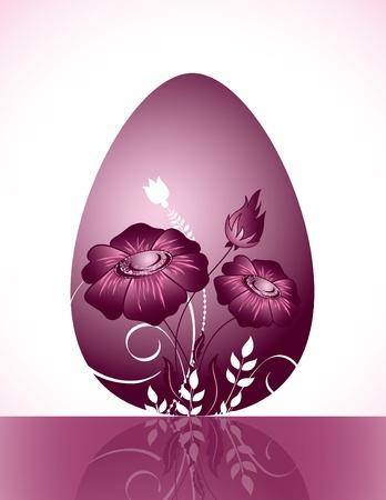 Easter Background. Easter Egg. Vector