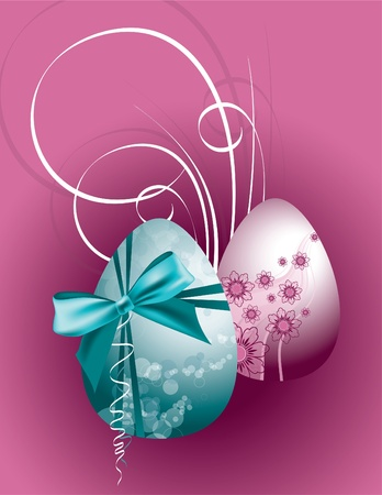 Easter Background. Easter Eggs. Vector