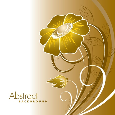 gold textured background: Abstract Floral Background.  Illustration