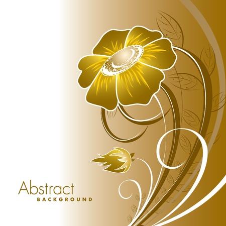 Abstracte florale achtergrond. Stock Illustratie