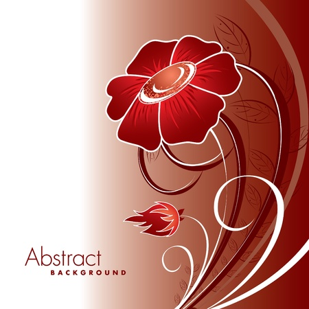 Abstract Floral Background.  Ilustração