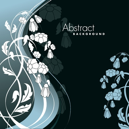 postcard background: Abstract Floral Background. Illustration