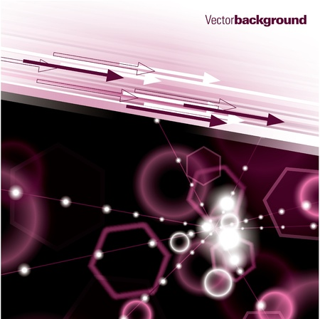 pink bubbles: Abstract Vector Background.