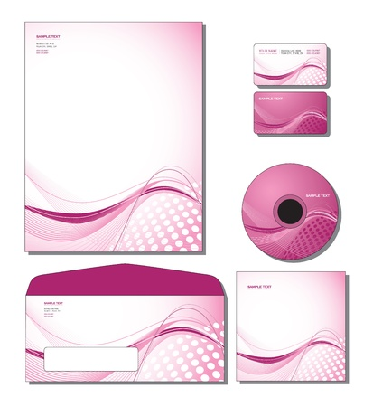 Corporate Identity Template Vector - letterhead, business and gift cards, cd, cd cover, envelope. 向量圖像
