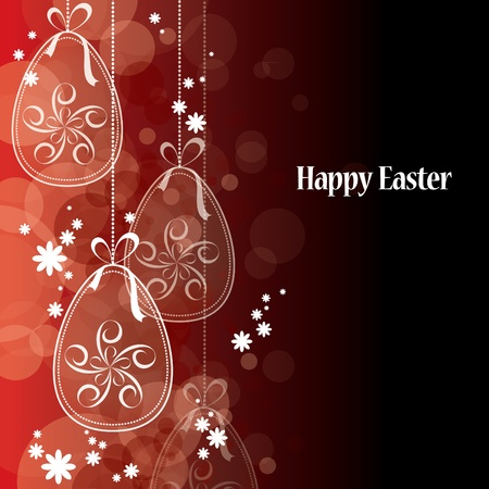 black bow: Easter Background Illustration