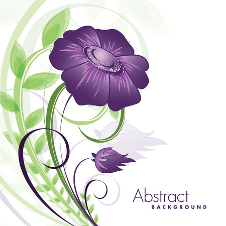 Abstract Floral Background. Vettoriali