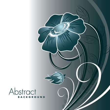 Abstract Floral Background. 일러스트