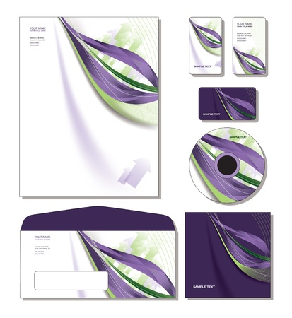 Corporate Identity Template Stock Vector - 12971288