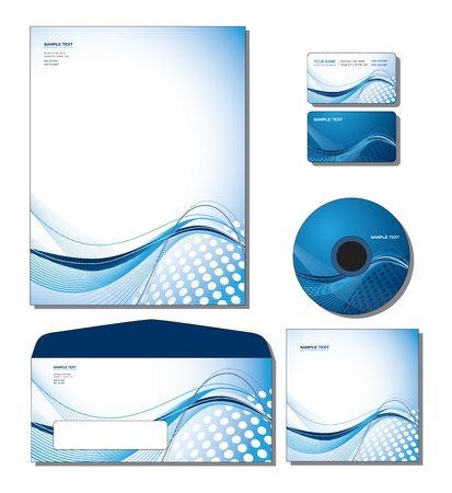 visiting card design: Corporate Identity Template  Illustration