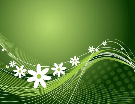 florish: Floral Background  Vector Illustration  Eps10