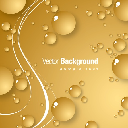 gold textured background: Vector Background