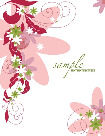 Floral Background  Vector Illustration  Eps10  Stock Vector - 12999894