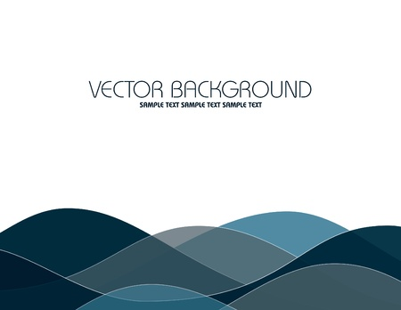 white wave: Vector Background