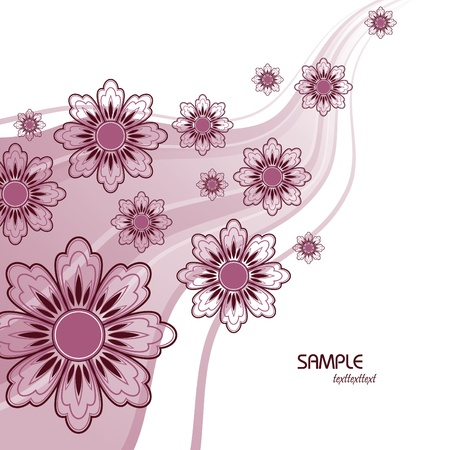 Floral Background  Vector Illustration    Illustration