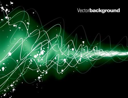 green swirl: Vector Background