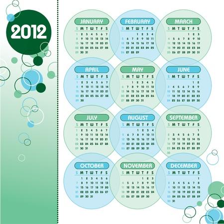 2012 Calendar  Vector Illustration Stock Vector - 13050667