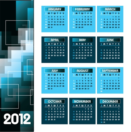 2012 Calendar  Vector Illustration  Vector
