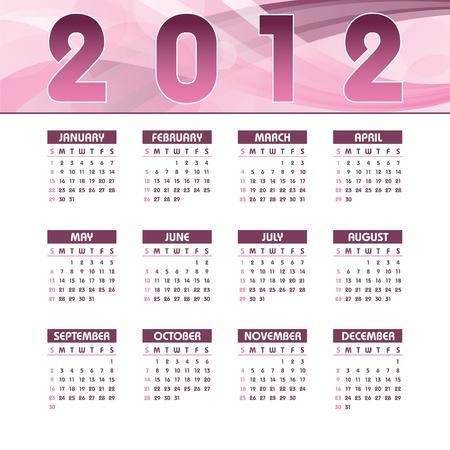 2012 Calendar  Vector Illustration Stock Vector - 13050877
