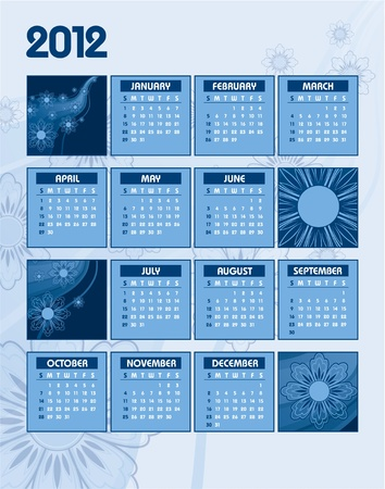 2012 Calendar  Vector Illustration  Stock Vector - 13050952